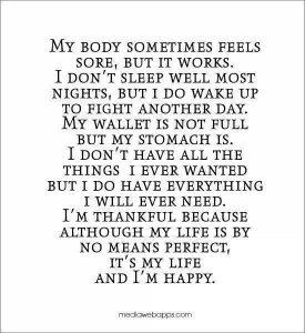 MY BODY SOMETIMES FEELS SORE