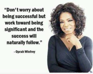 Quote on Successby Oprah Winfrey