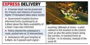 Chennai halts traffic to save life