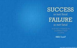Motivational Wallpaper on Success by Winston Churchill