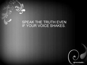 Motivational Wallpaper on Speak Truth