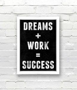 Motivational Wallpaper Dreams + Work = Success