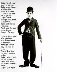 Smile A poem by Charlie Chaplin