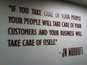 J W Marriott Quote On People , Customer Satisfaction & Business