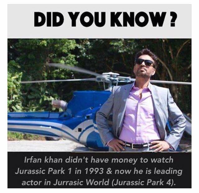 Irfan Khan Indian Actor Jurassic World inspirational Story