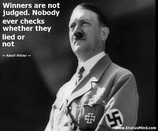 Adolf Hitler winners qoutes