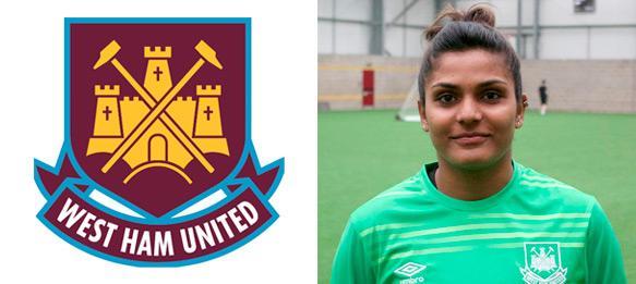 Aditi Chauhan Indian Goal keeper West Ham united pic
