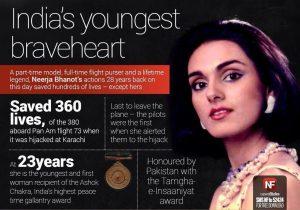 Neerja Bhanot ,India's Youngest Ashok Chakra