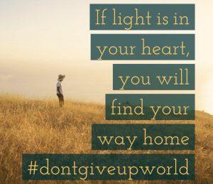 light in heart@dontgiveupworld