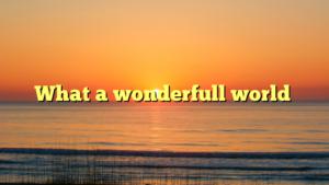 What a wonderfull world