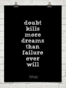 Motivational Wallpaper -Dream And Doubt