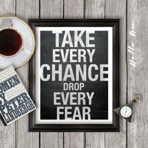 Drop every fear@dontgiveupworld