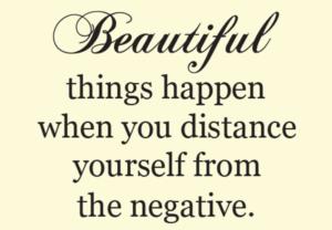 Motivational Wallpaper  -Distance From Negative