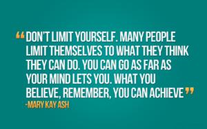 Motivational Wallpaper -Don't Limit Yourself