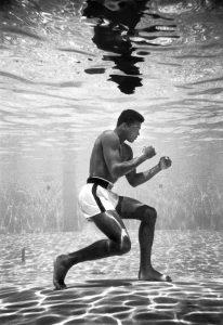 Muhammad Ali under water training@dontgiveupworld