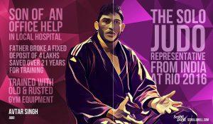 3. AVTAR SINGH : From a poor family to the solo Judo representative at Rio 2016. @dontgiveupworld