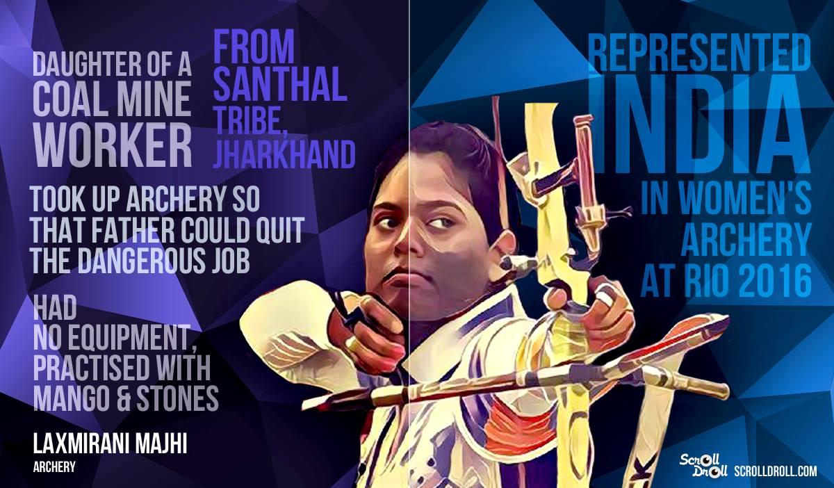 LAXMIRANI MANJHI: archery at Olympics 2016.@dontgiveupworld