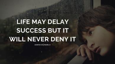 MOTIVATIONAL WALLPAPER ON LIFE WILL NEVER DENY SUCCESS@DONTGIVEUPWORLD