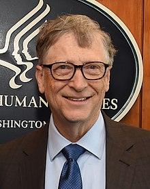 Bill Gates posing for the media in Washington. Bill Gates on How we must respond to the corona virus pandemic ?